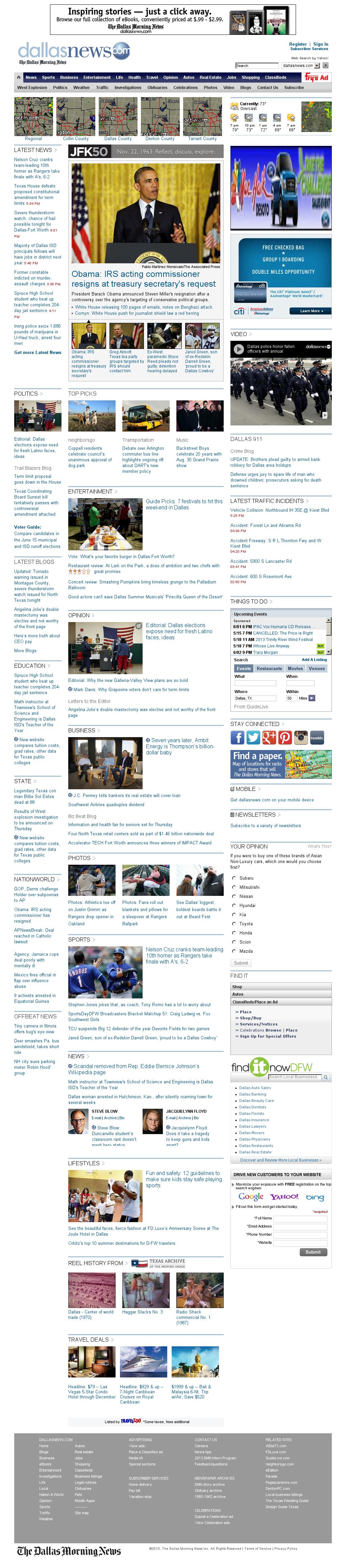 dallasnews.com at Wednesday May 15, 2013, 11:04 p.m. UTC