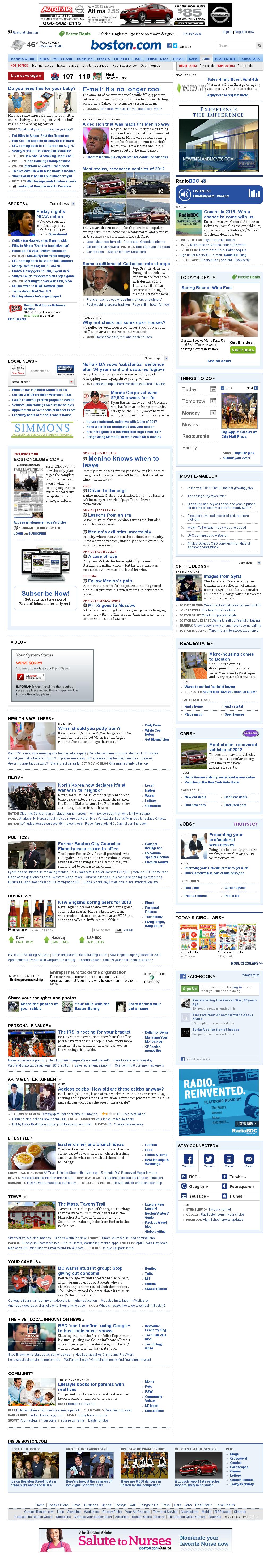 Boston.com at Saturday March 30, 2013, 5:02 a.m. UTC