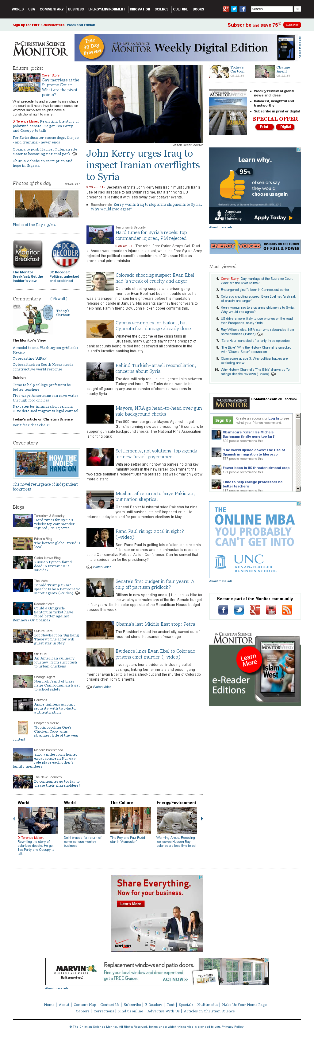 The Christian Science Monitor at Monday March 25, 2013, 2:14 p.m. UTC