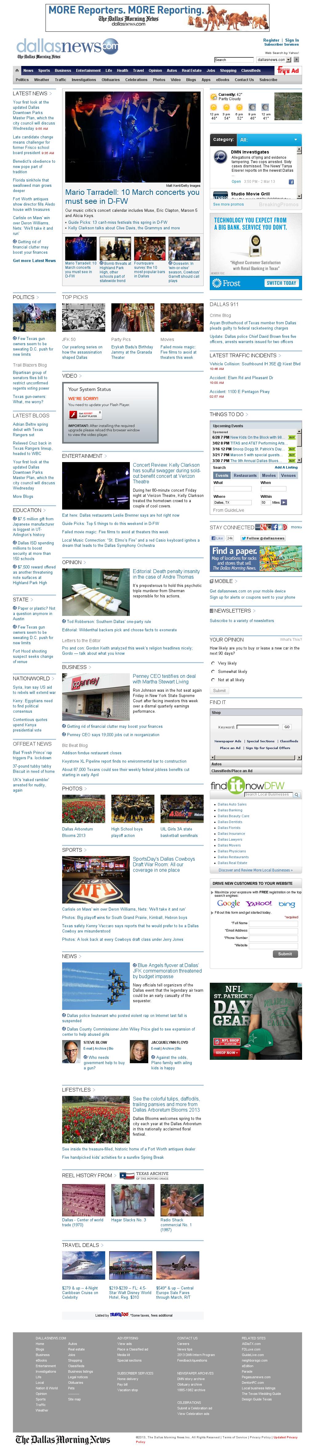 dallasnews.com at Saturday March 2, 2013, 5:04 p.m. UTC