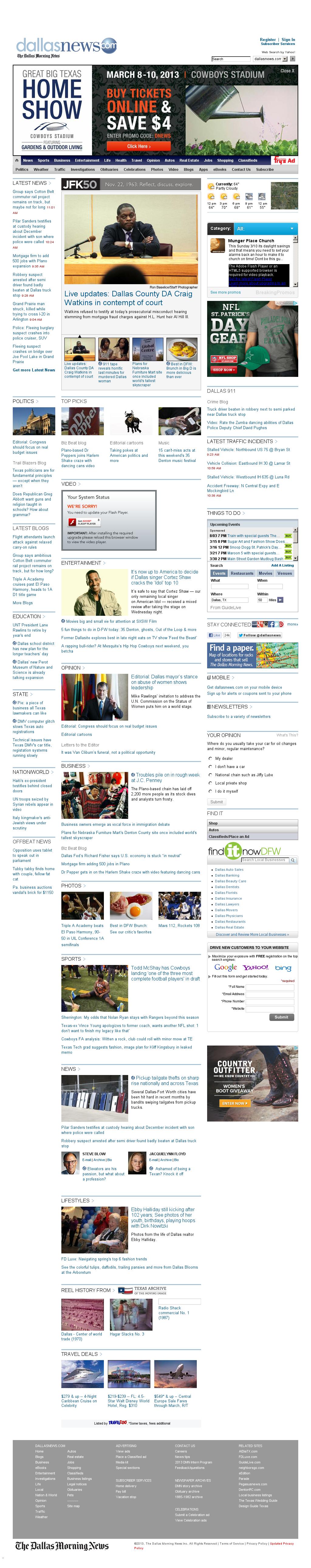 dallasnews.com at Thursday March 7, 2013, 5:03 p.m. UTC