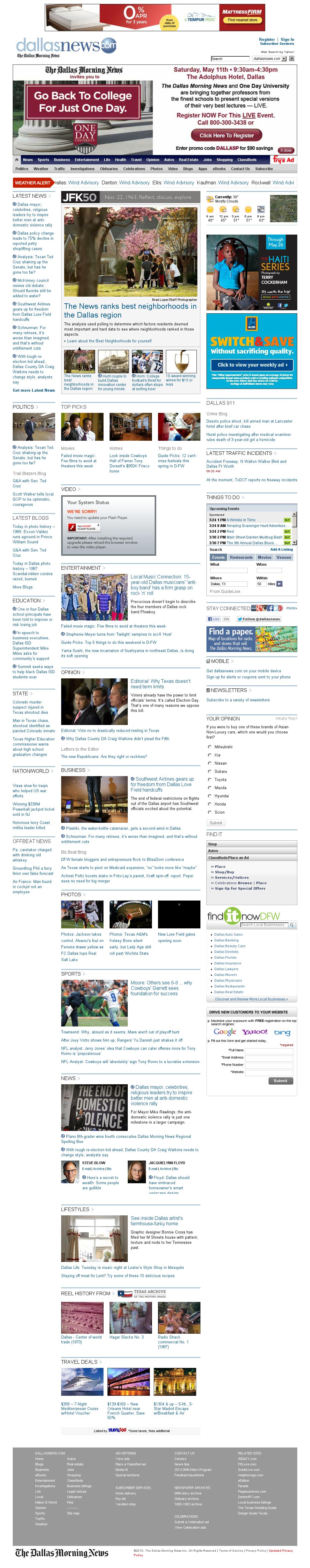 dallasnews.com at Sunday March 24, 2013, 1:09 p.m. UTC