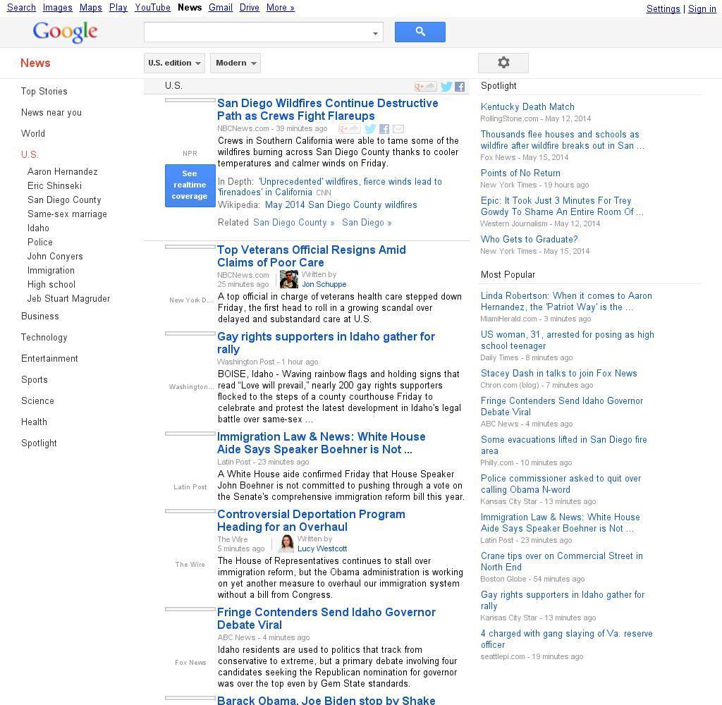 Google News: U.S.