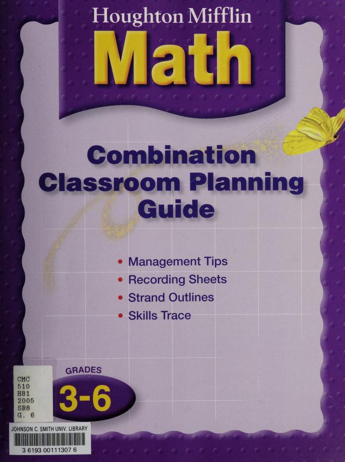 Houghton Mifflin Math (symmetry, vol.2 grade 3) by