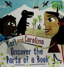 Cover of: Karl and Carolina uncover the parts of a book   Sandra Donovan